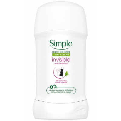 Simple Invisible Deostick Vanilla & Peach 40 ml