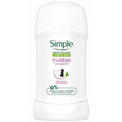 Simple Invisible Deostick Vanilla & Peach 40 ml