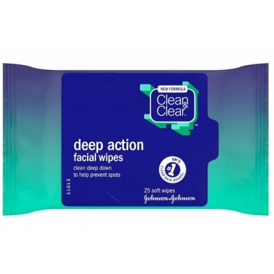 Clean & Clear Deep Action Facial Wipes 25 st