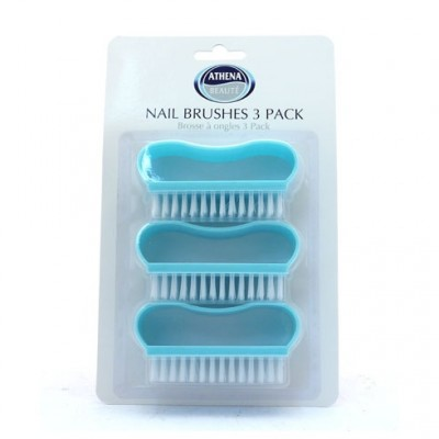 Athena Nail Brushes Blue Trio 3 pcs