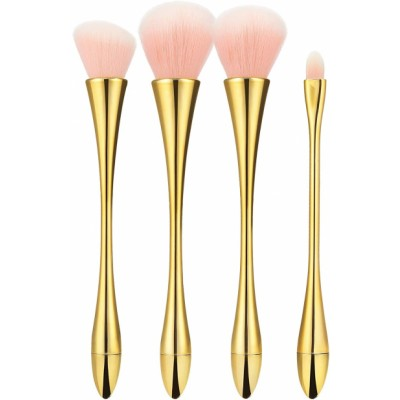 Tools For Beauty Makeup Brush Set Golden 4 kpl