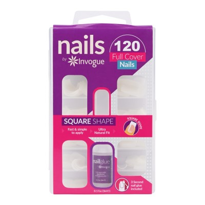 Invogue Full Cover Nails Square Shape 120 stk