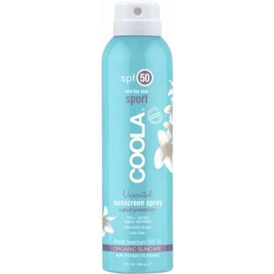 Coola Body Sunscreen Spray Unscented SPF50 236 ml