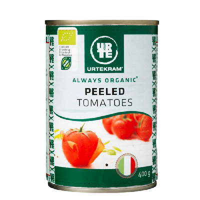 Urtekram Gepelde Tomaten Eco 400 g