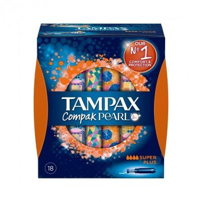 Tampax Compak Pearl Super Plus 18 stk
