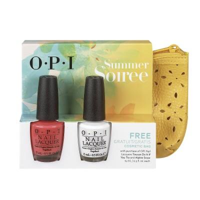 OPI Summer Soiree Set & Cosmetic Bag 2 x 15 ml + 1 kpl