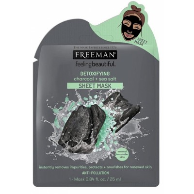 Freeman Detoxifying Charcoal & Sea Salt Sheet Mask 25 ml