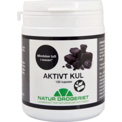 Natur Drogeriet Aktivt Kul Kapsler 380 mg 120 stk