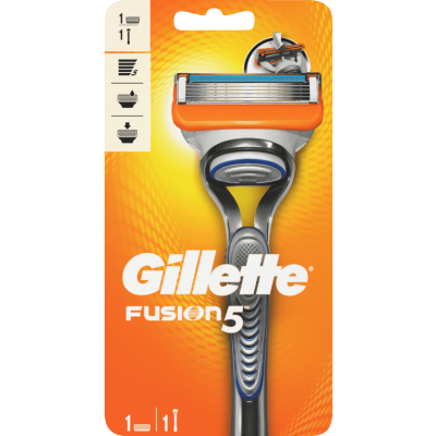 Gillette Fusion 5 Barberhøvel & Barberblad 1 barberhovel + 1 Barberblad
