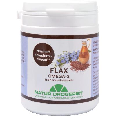 Natur Drogeriet Flax Omega-3 500 mg 180 stk