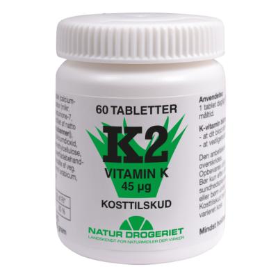 Natur Drogeriet K2-Vitamin Tabletter 45 ug 60 stk