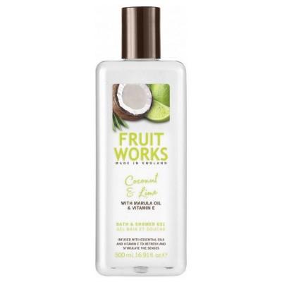 Fruit Works Coconut & Lime Bath & Shower Gel 500 ml