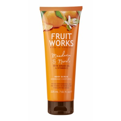 Grace Cole Fruit Works Mandarin & Neroli Body Scrub 225 ml