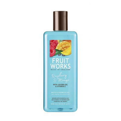 Fruit Works Raspberry & Mango Bath & Shower Gel 500 ml