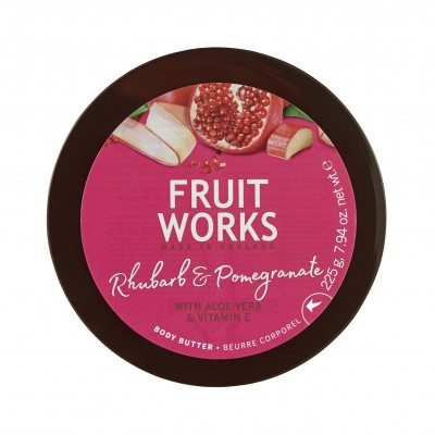 Grace Cole Fruit Works Rhubarb & Pomegranate Body Butter 225 g