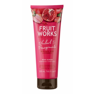 Grace Cole Fruit Works Rhubarb & Pomegranate Body Scrub 225 ml