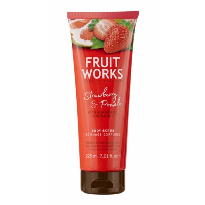 Grace Cole Fruit Works Strawberry & Pomelo Body Scrub 225 ml