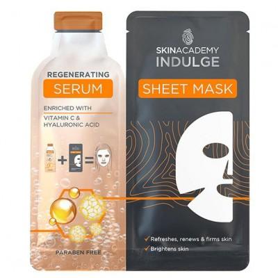 Skin Academy Indulge Regenerating Serum Sheet Mask 1 st