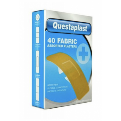 Questaplast Assorted Fabric Plasters 40 kpl