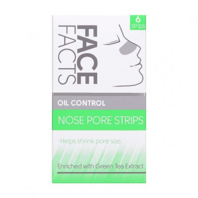 Face Facts Oil Control Nose Pore Strips Green Tea 6 kpl