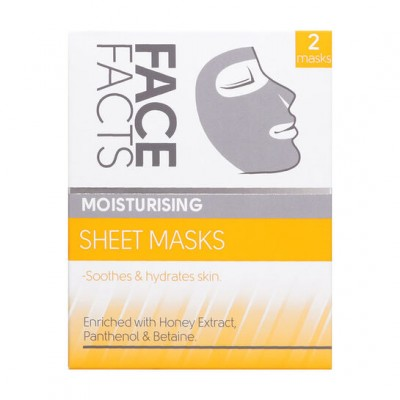 Face Facts Moisturising Sheet Masks 2 stk