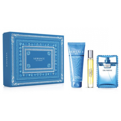 Versace Man Eau Fraiche EDT & EDT Mini & Shower Gel 100 ml + 10 ml + 150 ml