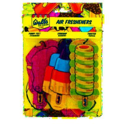 Wall's Ice Cream Car Freshener Trio 3 kpl