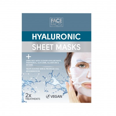 Face Facts Hyaluronic Sheet Masks 2 kpl