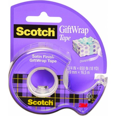 Scotch Satin Finish Giftwrap Tape 19 mm x 16,5 m