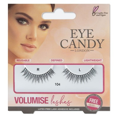 Eye Candy Volumise False Eyelashes 104 1 pari