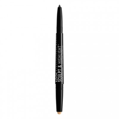 NYX Sculpt & Highlight Brow Contour 08 Black Golden Peach 0,82 g
