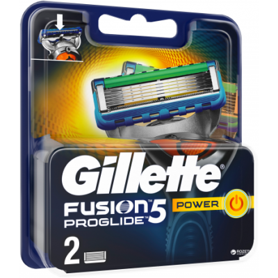 Gillette Fusion Proglide Power Barberblade 2 pcs
