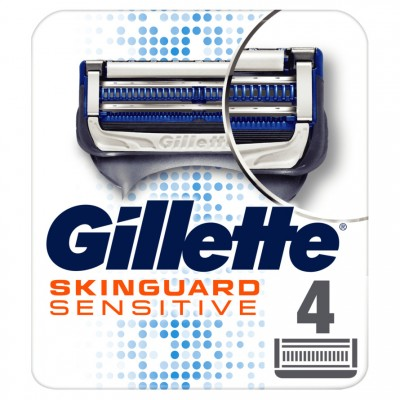 Gillette Skinguard Sensitive partaterät 4 kpl