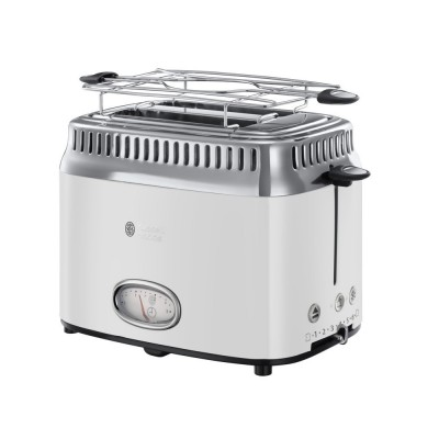 Russell Hobbs 21683-56 Retro White 2 Slice Toaster 1 stk