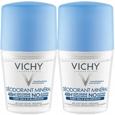 Vichy 48H Mineral Deo Roll On Duo 2 x 50 ml
