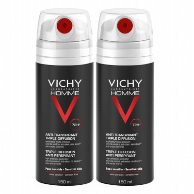 Vichy Homme 72H Triple Diffusion Deospray 2 x 150 ml