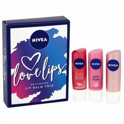Nivea Love Lips Lip Balm Trio 3 x 4,8 g