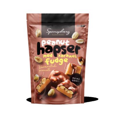 Spangsberg Peanuts Hapser Med Fudge 125 g