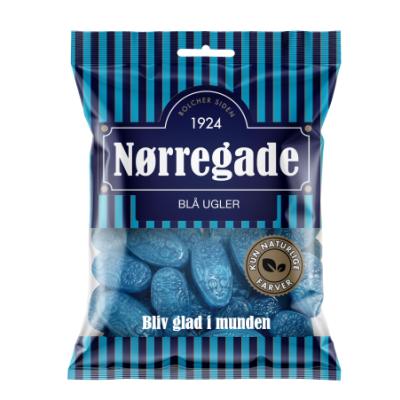 Nørregade Blå Ugler 125 g