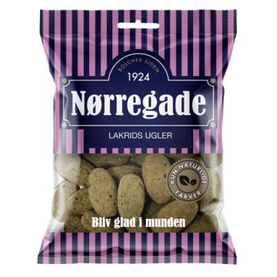 Nørregade Lakrids Ugler 125 g