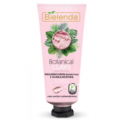 Bielenda Botanical Clays Vegan Regenerating Cream Pink Clay 50 ml