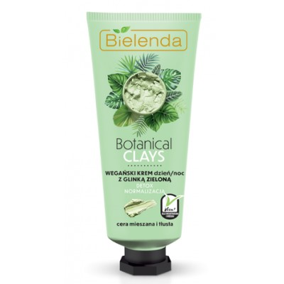 Bielenda Botanical Clays Vegan Regenerating Cream Green Clay 50 ml