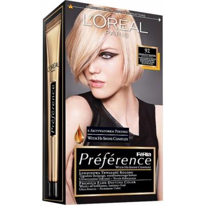 L'Oreal Preference 92 Iridescent Blonde 1 pcs
