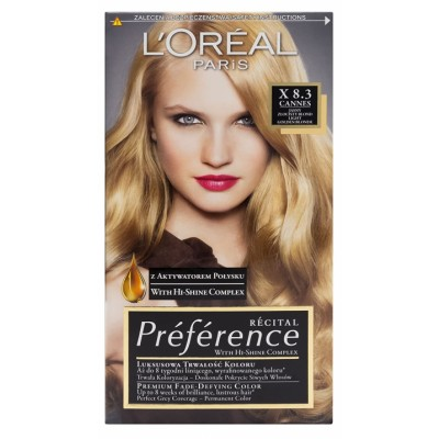 L'Oreal Preference 8.3 Light Golden Blonde 1 pcs