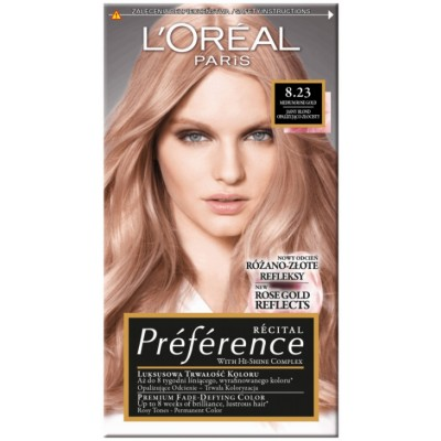 L'Oreal Preference 8.23 Shimmering Rose Gold 1 pcs