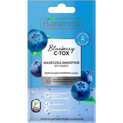 Bielenda Blueberry C-TOX Moisturizing & Brightening Smoothie Mask 8 g