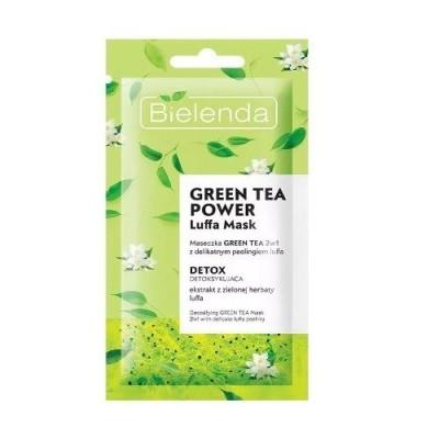 Bielenda Green Tea Power Luffa Face Mask 2in1 Scrub Detoxifying 8 g