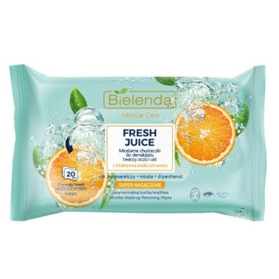 Bielenda Bielenda Fresh Juice Micellar Care Wipes Oranges 20 kpl
