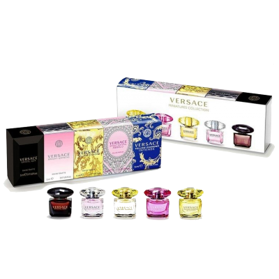 Versace Women Miniature Crystal Collection Set 5 x 5 ml