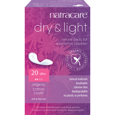 NatraCare Dry & Light Slim Sensitive Bladder Pads 20 kpl